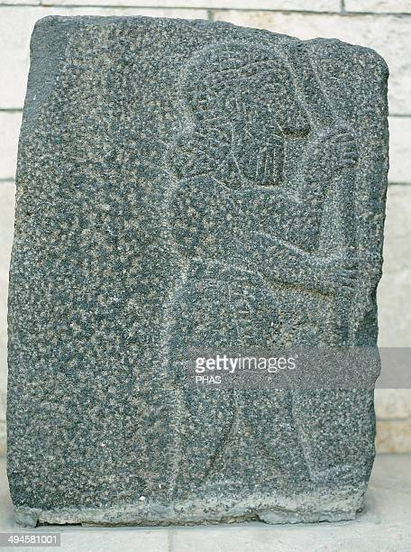 Antiquities Oriental Aramaean relief Basalt basrelief 10th century BC National Museum Aleppo Syria