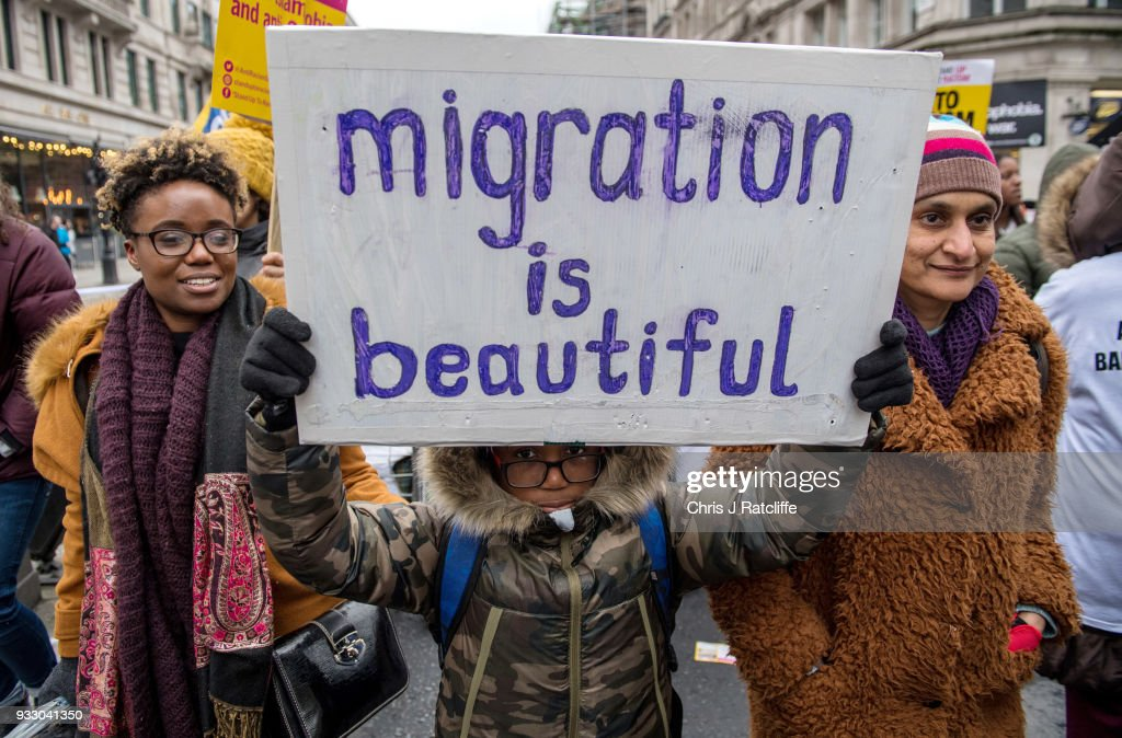 Anti Racism March Takes Place In London : News Photo