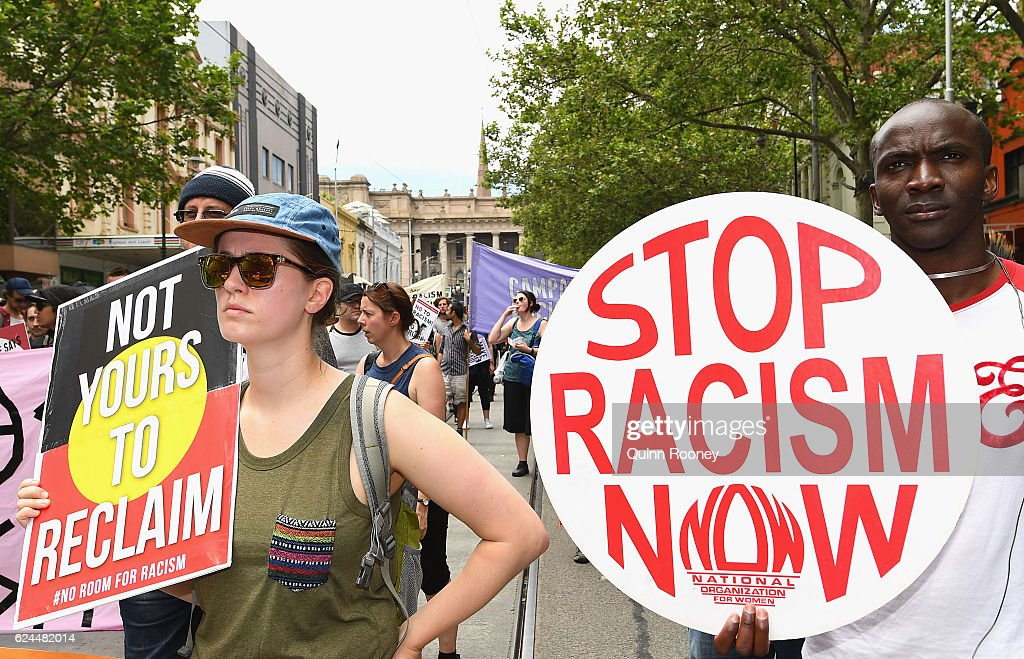 Far Right Groups Protest In Melbourne : News Photo