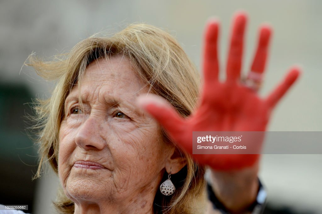 Protest Against Italian Immigration Policies : News Photo