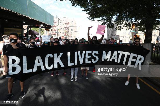 Antiracism protests continue in Bronx of New York City United States on July 20 2020 which have started over the death of George Floyd an unarmed...