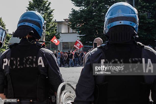 Antiracist and antifascist staging demonstration in the district of Mirafiori against fascist groups who try to point out that the cause of all the...