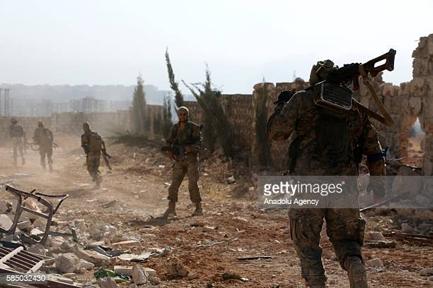 Antiregimist opposition forces take security measures as stage an operation to retake Aleppo from Assad Regime at Rashiddin district of Aleppo Syria...