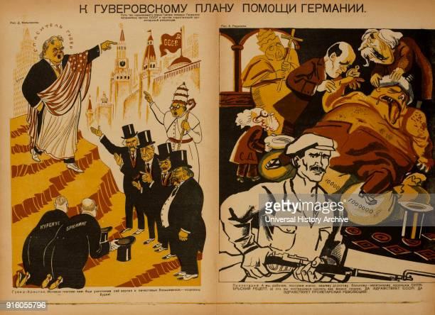 AntiReligion Propaganda Poster Bezbozhnik u Stanka Magazine Illustration by D Melnikov Alexey Radakov Russia 1920's