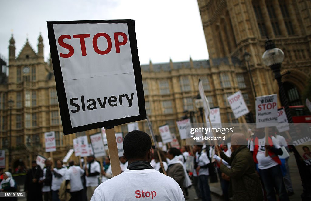 Anti-Slavery Day March To Parliament : News Photo