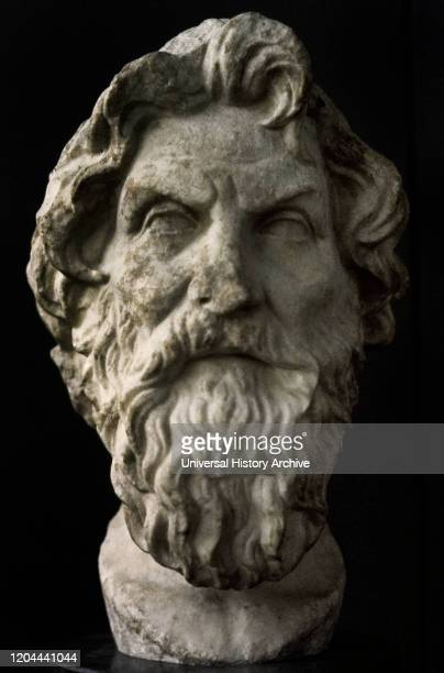 Antisthenes Greek philosopher founder of the Cynic philosophy Bust Roman copy 3rd2nd centuries BC It was found on the Appian Way in Rome British...