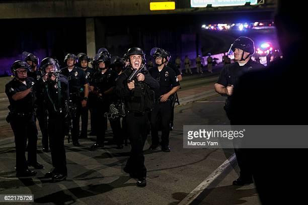 AntiTrump protesters in Los Angeles Calif on Nov 10 2016
