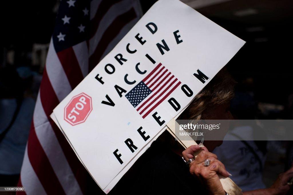 US-HEALTH-VIRUS-VACCINE-PROTEST : News Photo