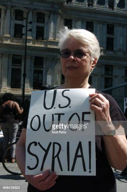 Antiwar protesters gathered in front of City Hall in downtown Philadelphia for an emergency rally demanding America not further entrench itself in...
