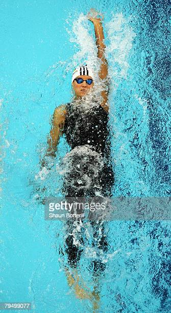 Antje Buschschulte of Germany competes in the 200m Backstroke during the 'Good Luck Beijing' World Swimming China Open at the National Aquatics...
