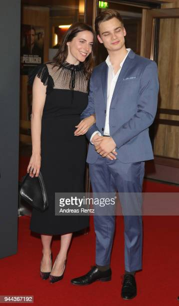 Antje Traue and Mateo Wansing Lorrio attend 'Spielmacher' Premiere at Lichtburg on April 10 2018 in Essen Germany