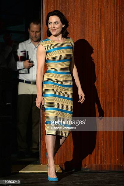 Antje Traue attends 'Man of Steel' Press Conference during the Taormina Filmfest 2013 on June 15 2013 in Taormina Italy