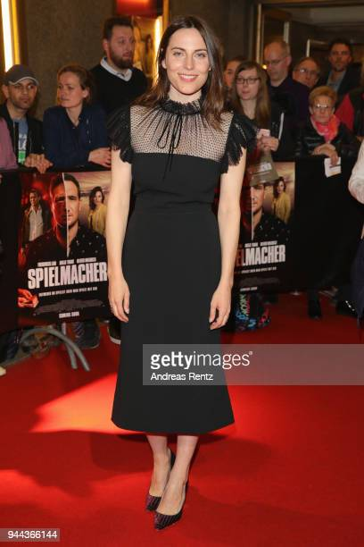 Antje Traue attends 'Spielmacher' Premiere at Lichtburg on April 10, 2018 in Essen, Germany.