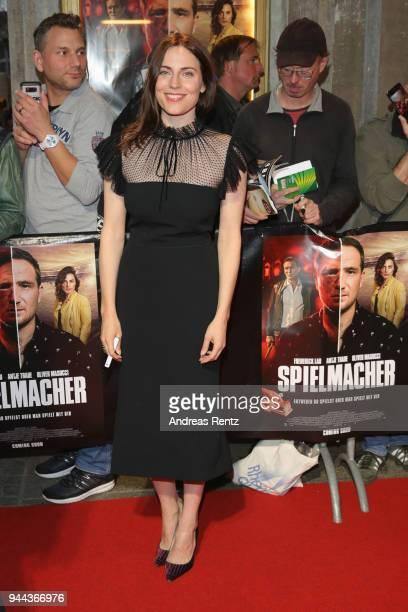Antje Traue attends 'Spielmacher' Premiere at Lichtburg on April 10 2018 in Essen Germany