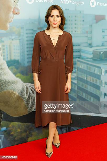 Antje Traue attends the film premiere 'Der Fall Barschel' at Astor Film Lounge on January 28, 2016 in Berlin, Germany.