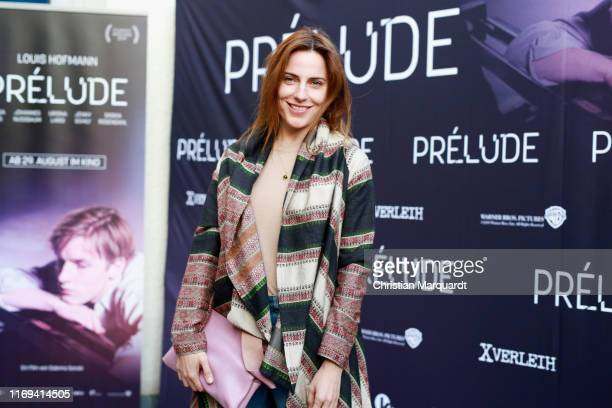"Antje Traue attends the ""Prelude"" film premiere at Filmtheater am Friedrichshain on August 21, 2019 in Berlin, Germany."