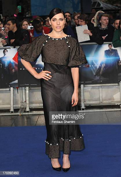 Antje Traue attends the UK Premiere of 'Man of Steel' at Odeon Leicester Square on June 12 2013 in London England