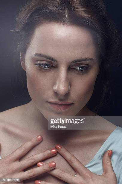Antje Traue is photographed for Self Assignment on July 15, 2015 in Munich, Germany.