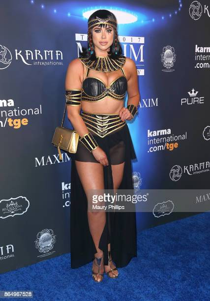 Antje Utgaard arrives at the 2017 Maxim Halloween Party at Los Angeles Center Studios on October 21 2017 in Los Angeles California