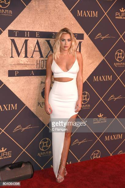 Antje Utgaard arrives at the The 2017 MAXIM Hot 100 Party at Hollywood Palladium on June 24 2017 in Los Angeles California