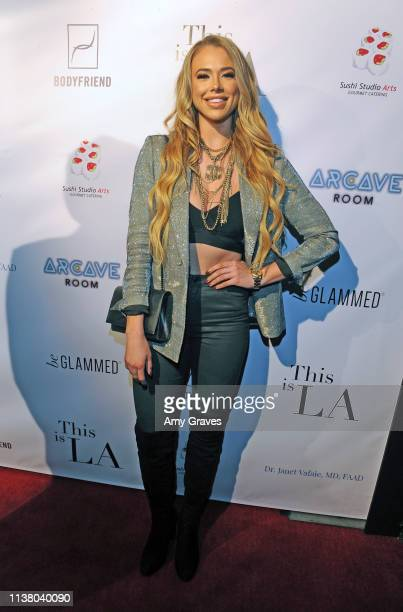 Antje Utgaard attends the This is LA Season 3 Premiere Party at Yamashiro Hollywood on April 18 2019 in Los Angeles California