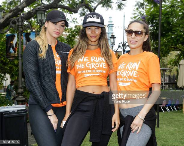 Antje Utgaard Tiffany Keller and Chelsea Pereira attend We Run The Grove for the Race to Erase MS on June 4 2017 in Los Angeles California