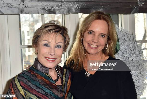 AntjeKatrin Kuehnemann and Anja Thyssen attend the DKMS LIFECharity Ladies Christmas Lunch at Kaefer Schaenke on December 12 2017 in Munich Germany