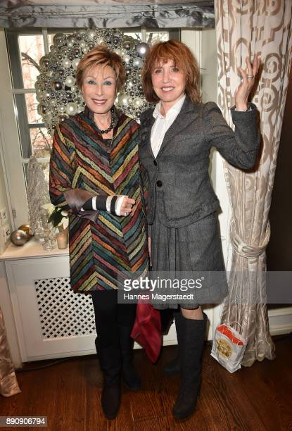 AntjeKatrin Kuehnemann and Dunja Siegel attend the DKMS LIFECharity Ladies Christmas Lunch at Kaefer Schaenke on December 12 2017 in Munich Germany