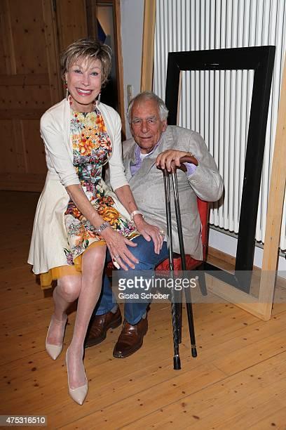 AntjeKatrin Kuehnemann and her husband Dr Joerg Guehring during the Mauro Bergonzoli Country Life Studio Opening on May 30 2015 in Kirchheim Germany