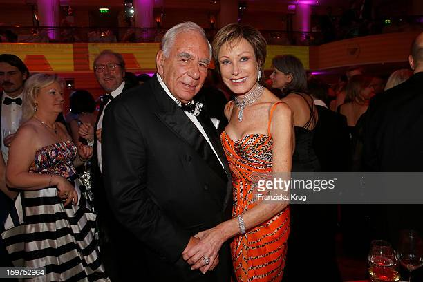 AntjeKatrin Kuehnemann and her husband Joerg Guehring attend the Germany Filmball 2013 on January 19 2013 in Munich Germany