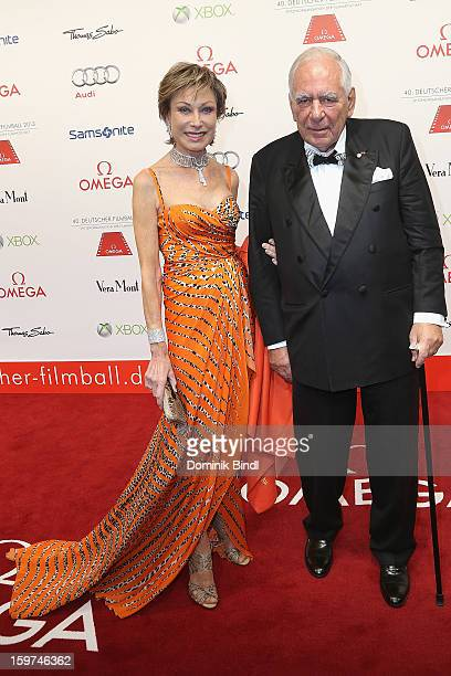 AntjeKatrin Kuehnemann and Joerg Guehring attend the Germany Filmball 2013 at Hotel Bayerischer Hof on January 19 2013 in Munich Germany