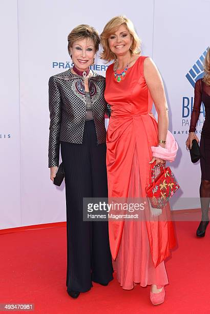 AntjeKatrin Kuehnemann and Maren Gilzer attend the 'Bayerischer Fernsehpreis 2014' at Prinzregententheater on May 23 2014 in Munich Germany