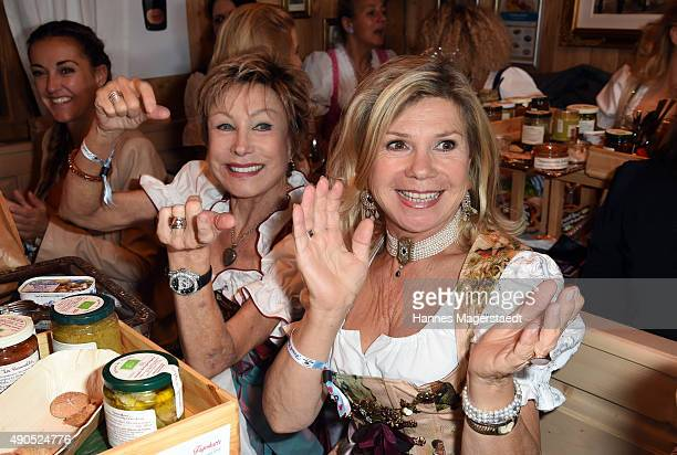 AntjeKatrin Kuehnemann and Marianne Hartl attend the Ladies Lunch at Fisch Baeda during the Oktoberfest 2015 at Theresienwiese on September 29 2015...