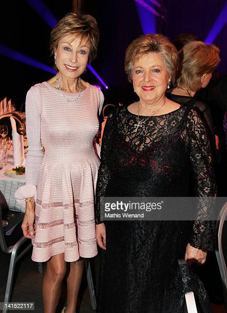 AntjeKatrin Kuehnemann and MarieLuise Marjan attend the 'Steiger Awards Dinner Party' at Jahrhundert Halle on March 17 2012 in Bochum Germany