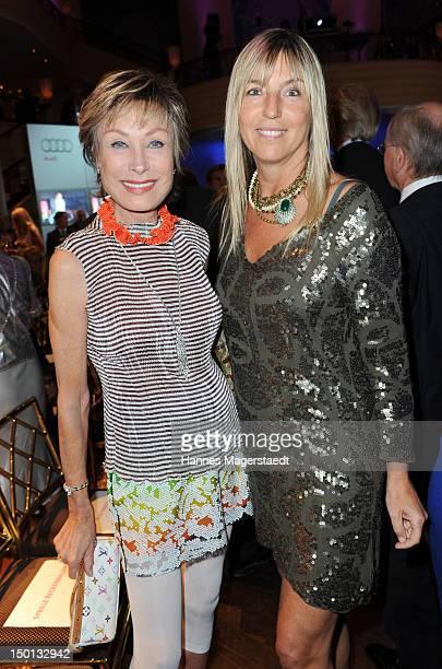 AntjeKatrin Kuehnemann and Tanja ValerienGlowacz attend the Susanne Wiebe Munich Fashion Opening Show at Bayerischer Hof on August 10 2012 in Munich...