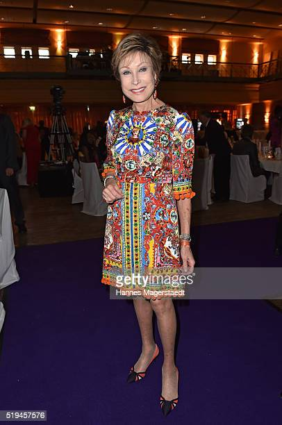 AntjeKatrin Kuehnemann during the 'EAGLES Fashion Dinner' at Nockherberg on April 6 2016 in Munich Germany