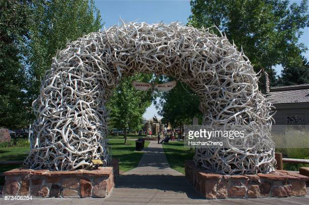 Antler Arches in Jackson Hole, Wyoming