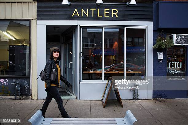 TORONTO ON JANUARY 09 Antler restaurant owned by Michael Hunter sits on Dundas Street West