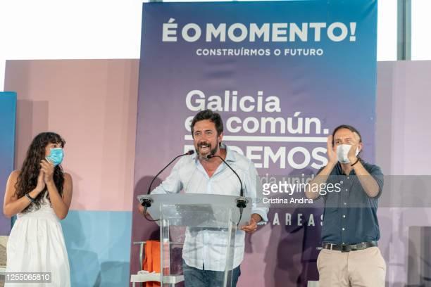 Antón GómezReino candidate to the Xunta de Galicia for Galicia En Común speaks with Luca Chao candidate to the Galician Parliament for Galicia En...