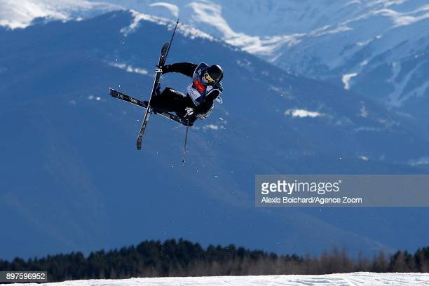 Antoine Adelisse of France competes during the FIS Freestyle Ski World Cup Freestyle Slopestyle on December 23 2017 in Font Romeu France