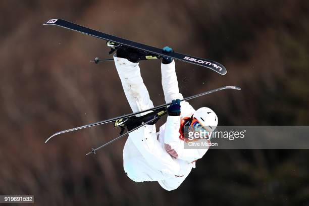 Antoine Adelisse of France competes during the Freestyle Skiing Men's Ski Slopestyle qualification on day nine of the PyeongChang 2018 Winter Olympic...