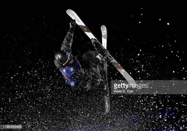 Antoine Adelisse of France competes during the VISA Big Air ski finals practice at SunTrust Park on December 21, 2019 in Atlanta, Georgia.