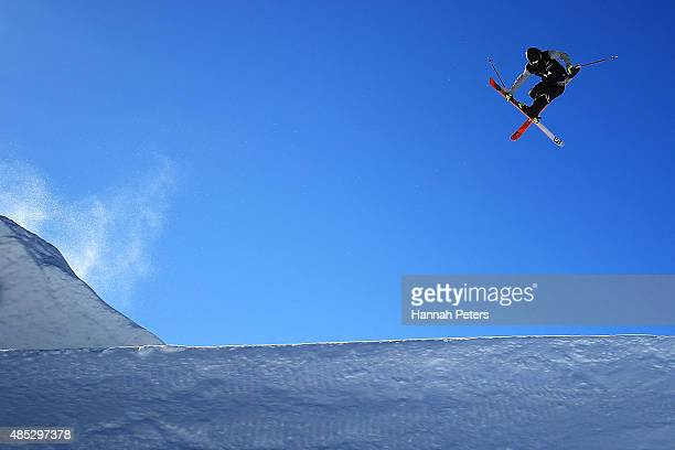 Antoine Adelisse of France competes in the FIS Freestyle Ski World Cup Slopestyle Qualification during the Winter Games NZ at Cardrona Alpine Resort...