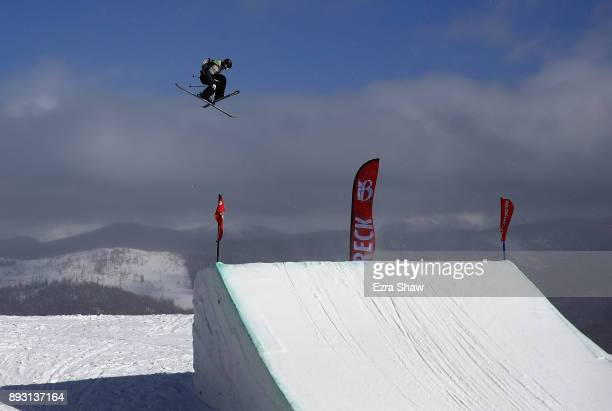 Antoine Adelisse of France competes in the Men's Ski Slopestyle qualifier during Day 2 of the Dew Tour on December 14 2017 in Breckenridge Colorado