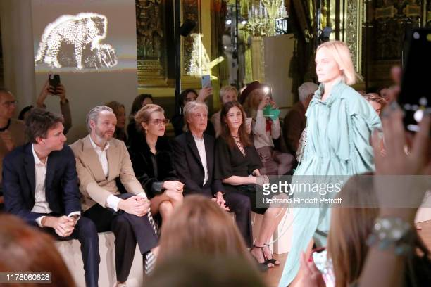 Antoine Arnault, Alasdhair Willis, Natalia Vodianova, Paul McCartney and his wife Nancy Shevell attend the Stella McCartney Womenswear Spring/Summer...