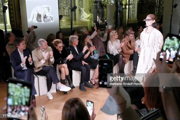 Antoine Arnault Alasdhair Willis Natalia Vodianova Paul McCartney his wife Nancy Shevell and Delphine Arnault attend the Stella McCartney Womenswear...
