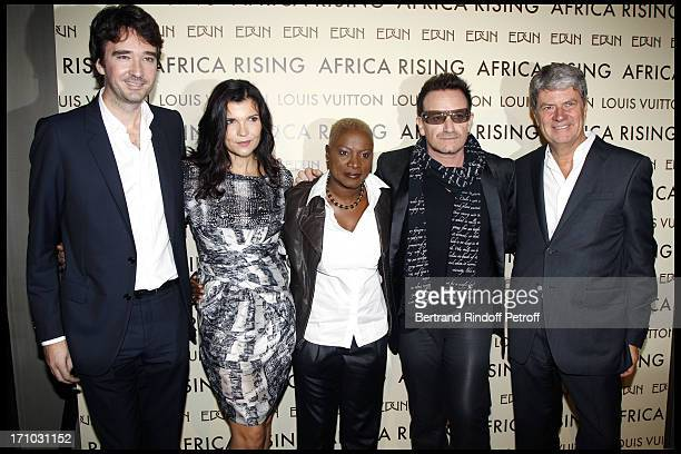 Antoine Arnault Ali Hewson Angelique Kidjo Bono Yves Carcelle at Every Journey Began In Africa Party For The Exhibition Africa Rising And The...