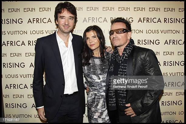 Antoine Arnault Ali Hewson Bono at Every Journey Began In Africa Party For The Exhibition Africa Rising And The Discovery Of The Collaboration...