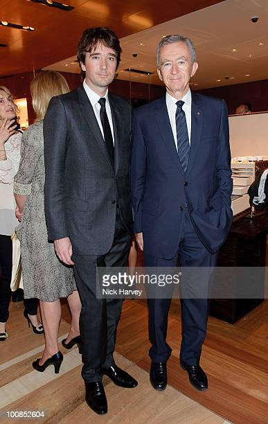 Antoine Arnault and Bernard Arnault attend the launch of the Louis Vuitton Bond Street Maison on May 25 2010 in London England