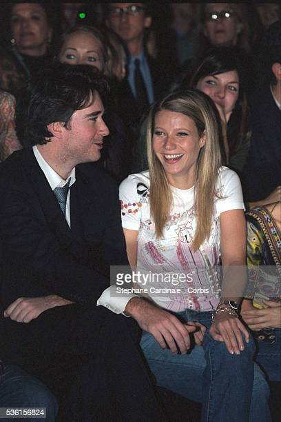 Antoine Arnault and Gwyneth Paltrow at the Dior fashion show